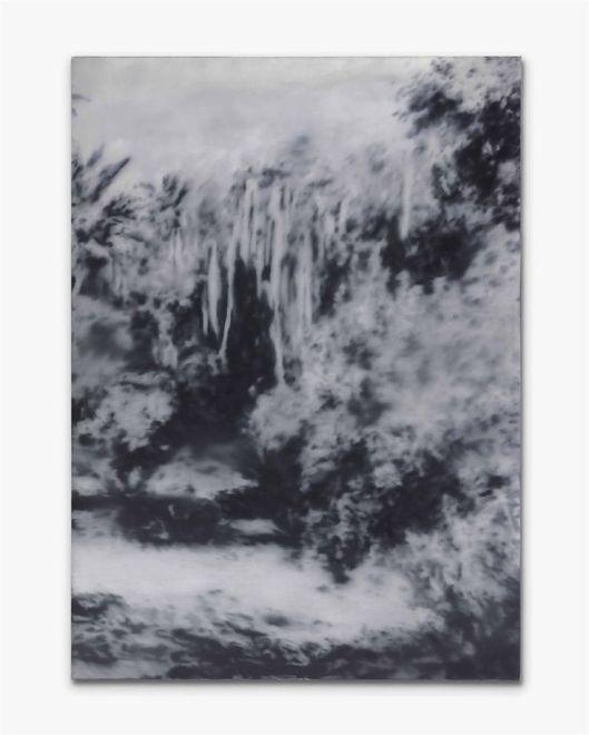 (Alain Truong au beau mileu des tissus)(2010)(par philippe pelletier)(huile et acrylique sur toile)