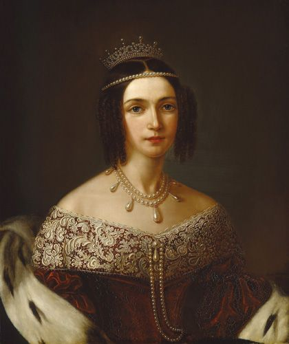 Queen Joséphine's natural pearl and diamond necklace ... Josephine S