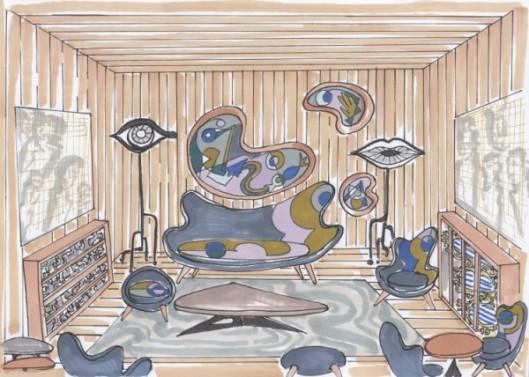 Le salon mis en caisse de Vincent Darré.