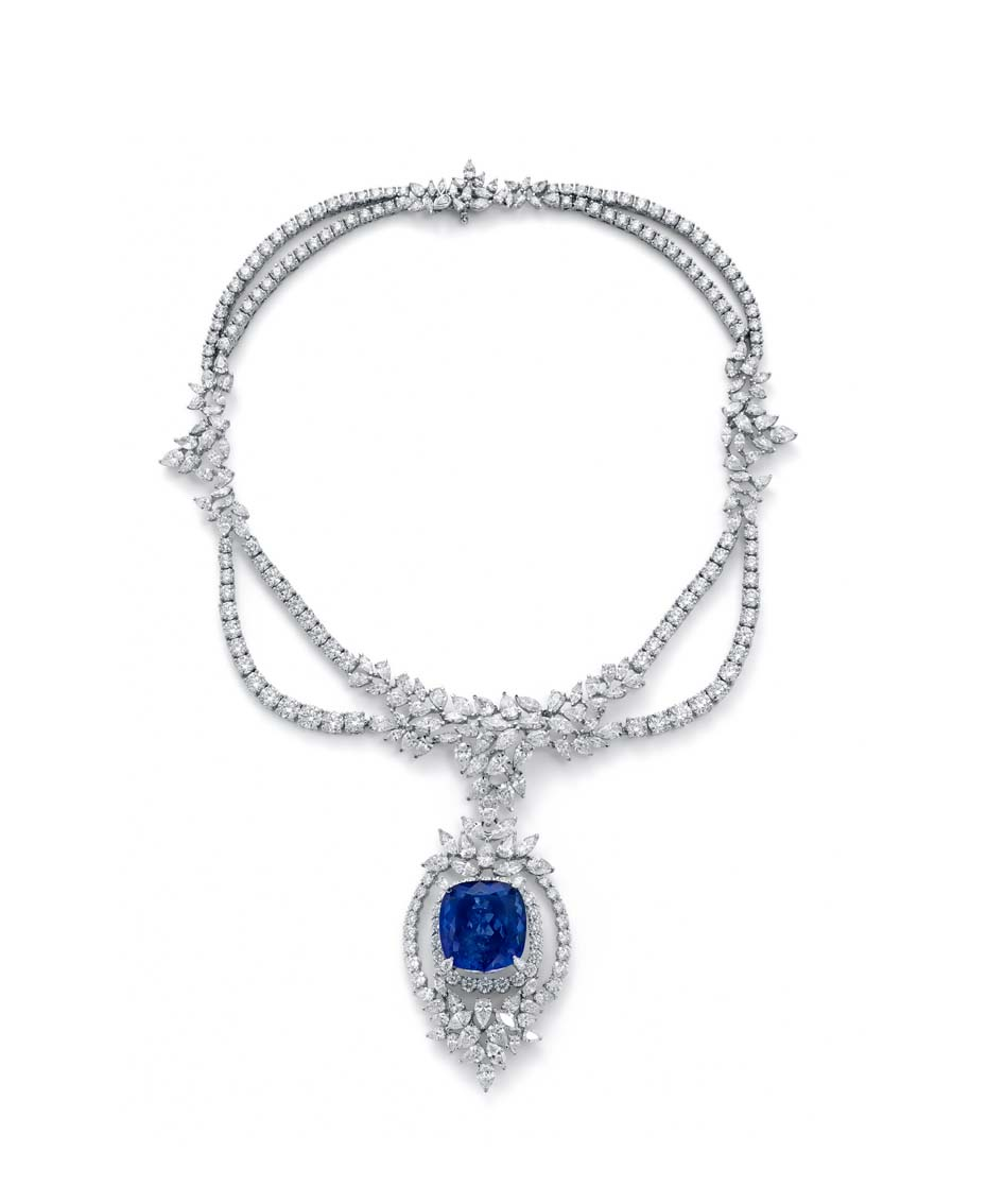 Ganjam Violet Necklace With A 4711ct Tanzanite Centre Surrounded By  6400ct Of White Diamonds