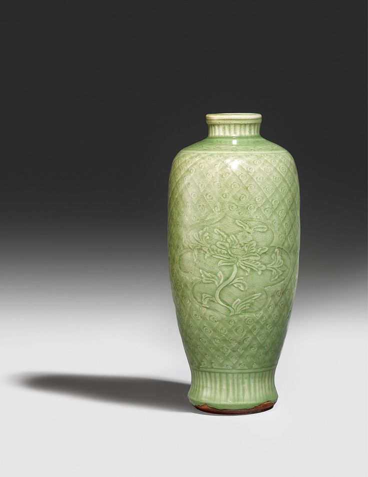 A Slender Longquan Celadon Vase Early Ming Dynasty 15th Century