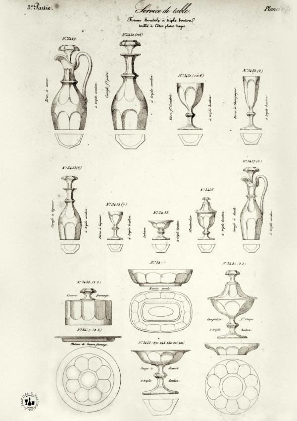 Baccarat la l gende du cristal au petit palais alain r truong - Service harcourt baccarat ...