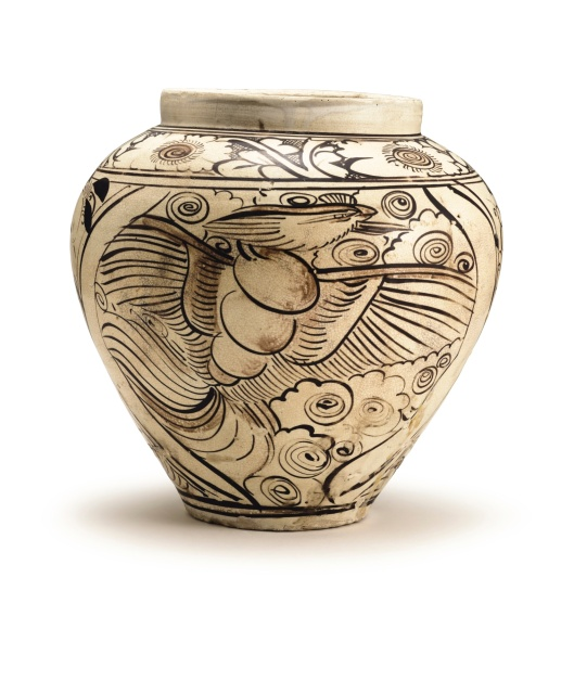 a-cizhou-painted-dragon-and-phoenix-jar-yuan-dynasty