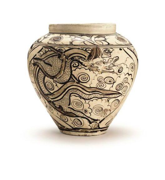a-cizhou-painted-dragon-and-phoenix-jar-yuan-dynasty