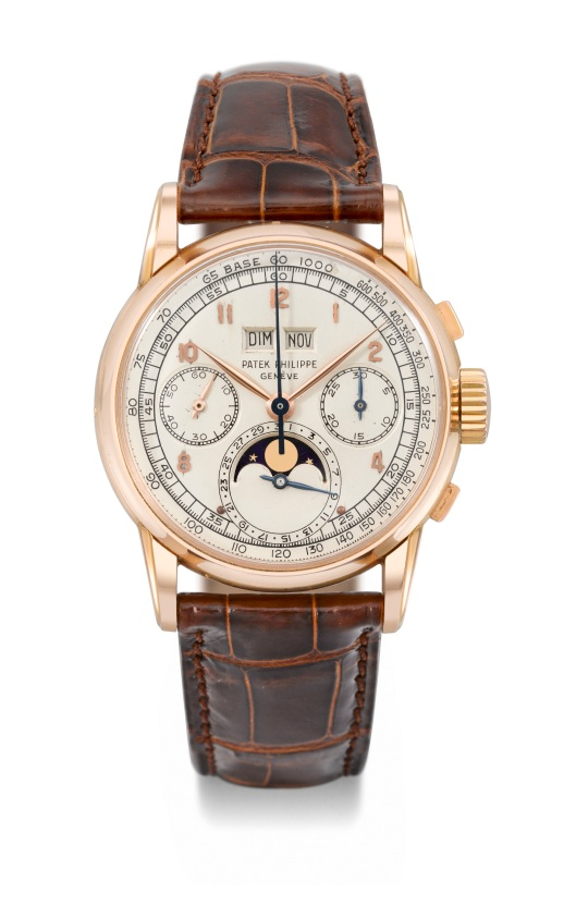 ref 2499 PP 18K pink gold Perpetual calendar chronograph wristwatch with moon phases