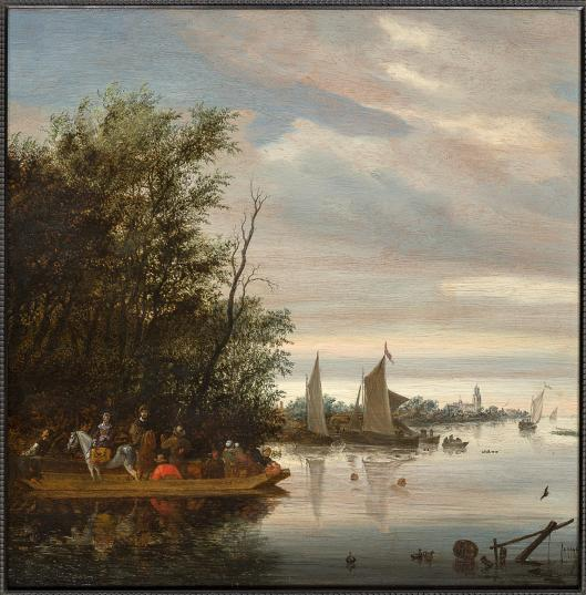 Salomon van-Ruysdael-RiverEstuarywithFerryBoatandSwimmers.-2442014T161528