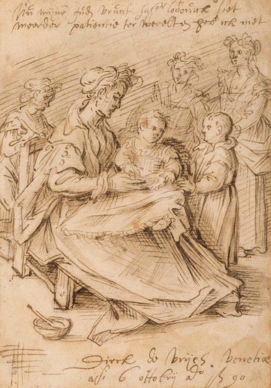Dirck de Vries, Moeder en kinderen