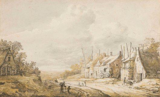 Albert Cuyp, Huizen aan de weg