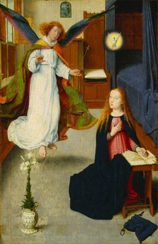 The Annunciation, c.1490 (oil on oak panel)
