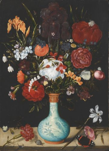 Paintings Vintage Oil Painting On Canvas Still Life Flowers Circa 1950's Signed Higginson Refreshment