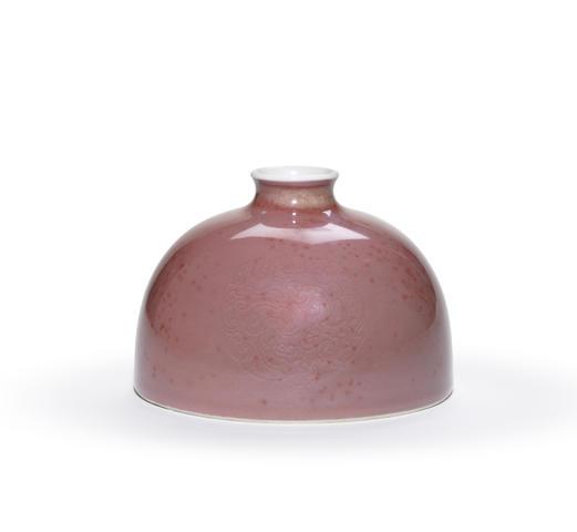 A peachbloom-glazed waterpot, taibaizun