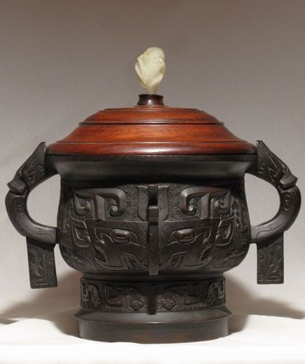 An Eastern Zhou Dynasty style vessel, gui. Probably Ming Dynasty