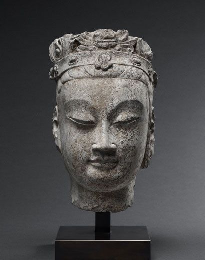 Bodhisattva Head. China, Northern Qi Dynasty (550-577)