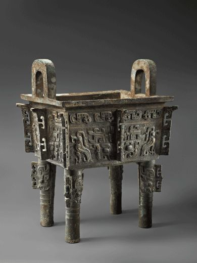 Bronze Ritual Vessel (Fangding). China, Early Western Zhou Dynasty