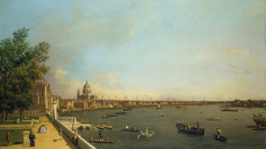 Canaletto, London The Thames from Somerset House Terrace towards the City