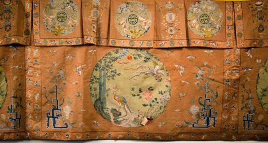 Chinese Silk Needlework Hanging Panel, 18th-19th century1