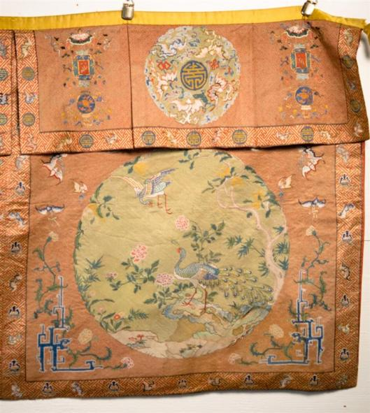 Chinese Silk Needlework Hanging Panel, 18th-19th century2
