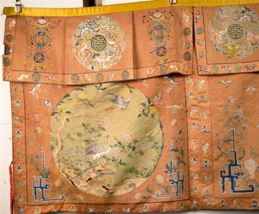 Chinese Silk Needlework Hanging Panel, 18th-19th century3