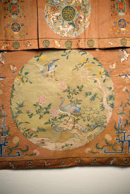Chinese Silk Needlework Hanging Panel, 18th-19th century4