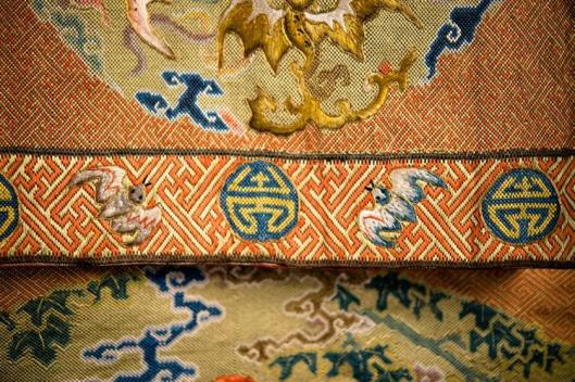 Chinese Silk Needlework Hanging Panel, 18th-19th century6
