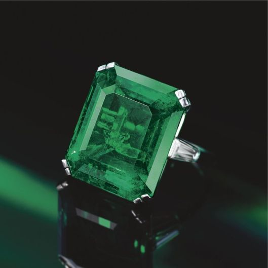 Emerald and diamond ring, Harry Winston, 1977