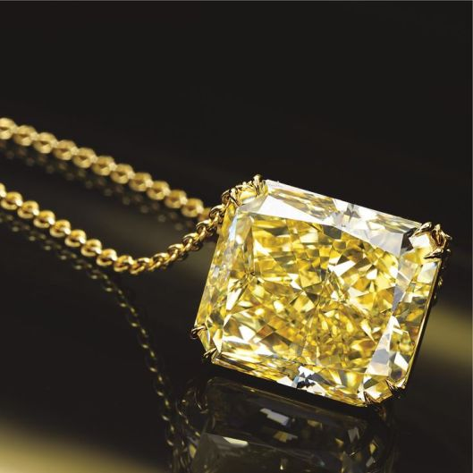 Fancy Intense Yellow Diamond Pendant-Necklace