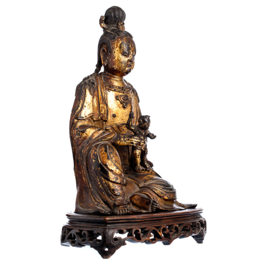 Guanyin in gilded bronze,Ming Dynasty (1368-1644)2