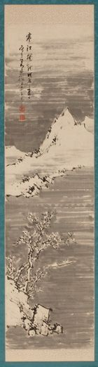 Hine Taizan (1813-1869). Landscape – Hanging Scroll. Japan, Meiji Period, dated 1868