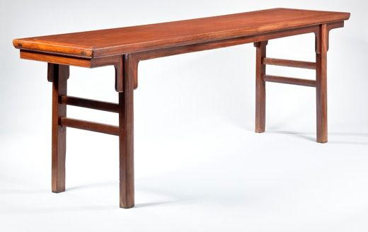 Huanghuali inset leg bridle joint table. China, Late Ming, early Qing dynasty