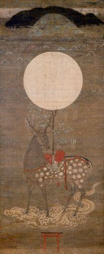 Kasuga Deer Mandala. Japan, Muromachi Period