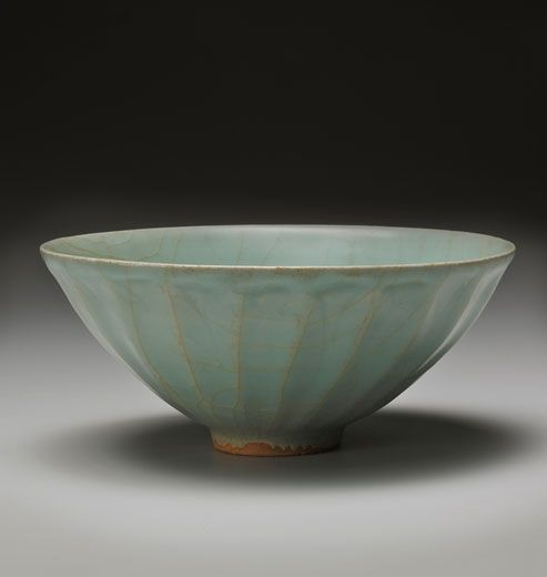 Longquan celadon lotus bowl. China, Southern Song Dynasty, late 12th-13th century. Diameter 6.5 inches (16.5 cm). Asia Week New York  Andrew Kahane, Ltd.