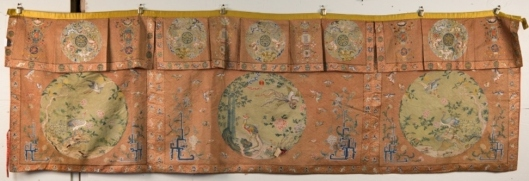 Lot 454 Chinese Silk Needlework Hanging Panel