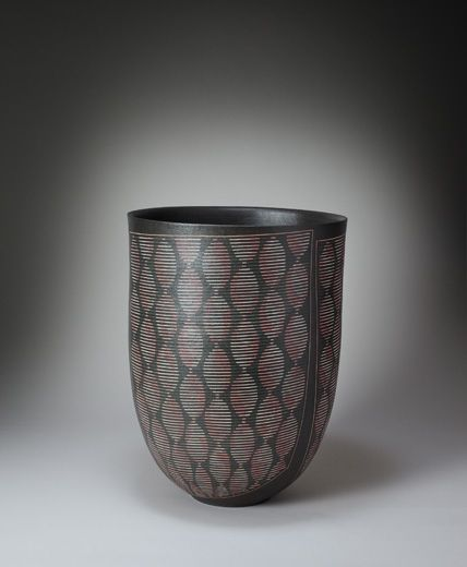 Maeda Hideo. Flower vessel with geometric pattern. Japan, 2013