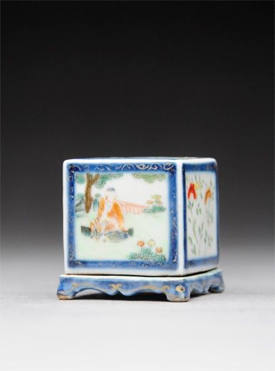 Miniature Famille Rose Incense Burner. China, Qianlong-Jiaqing Period