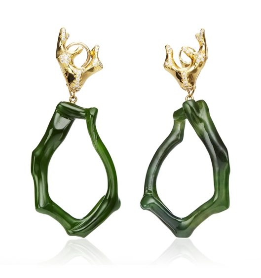 Nicholas Varney Nephrite Jade Earrings