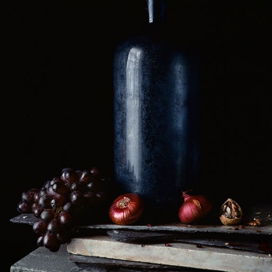 PCG161, Still Life with Grapes and Red Onion, Edition of 10, 22 x 22""