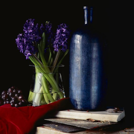 PCG166, Still Life With Hyacinth and Grapes, 2014, Edition of 10, 22 x 22