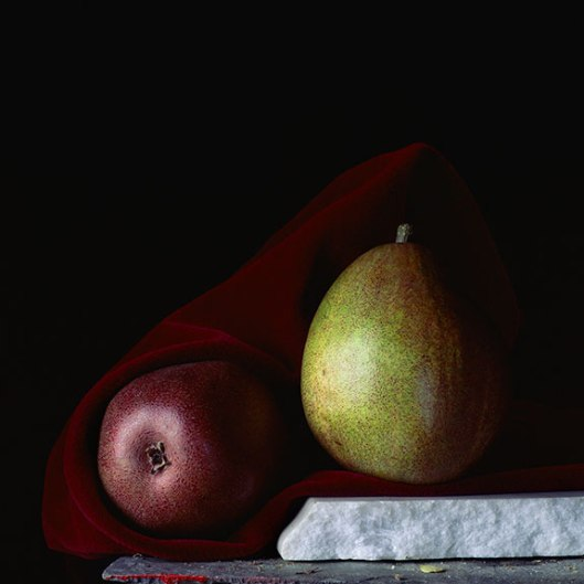 PCG172, Still Life with Two Pears, 2014, Inkjet print, Edition of 10, 22 x 22