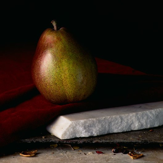 PCG178, Still Life with Single Pear, 2014, Inkjet print, Edition of 10, 15 x 15