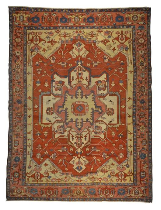 Persian Heriz Carpet, ca. 1880