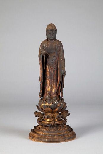 Standing Amida Nyorai. Japan, Kamakura Period, 13th century