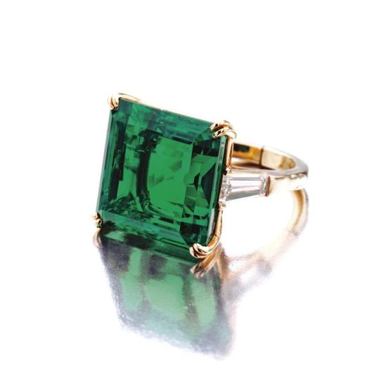 Superb emerald and diamond ring, Van Cleef & Arpels, New York, 1968