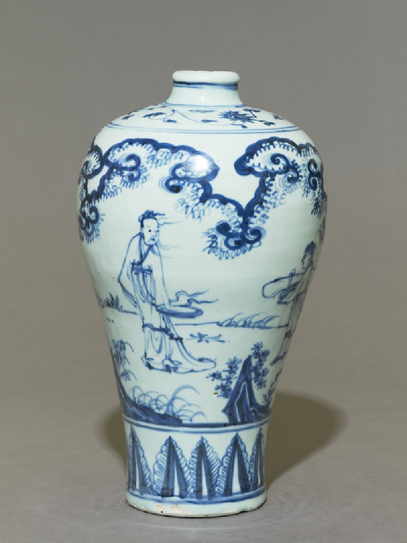 Blue And White Meiping Or Plum Blossom Vase Ming Dynasty