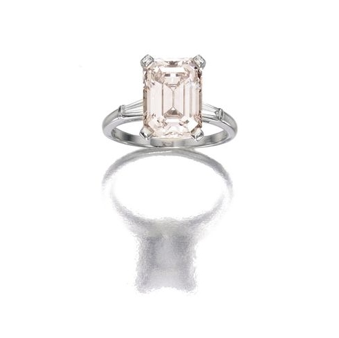 Platinum 4 49 Carats Very Light Pink Diamond And Diamond Ring Cartier Estimate 120000 140000 Usd P O Sothebys