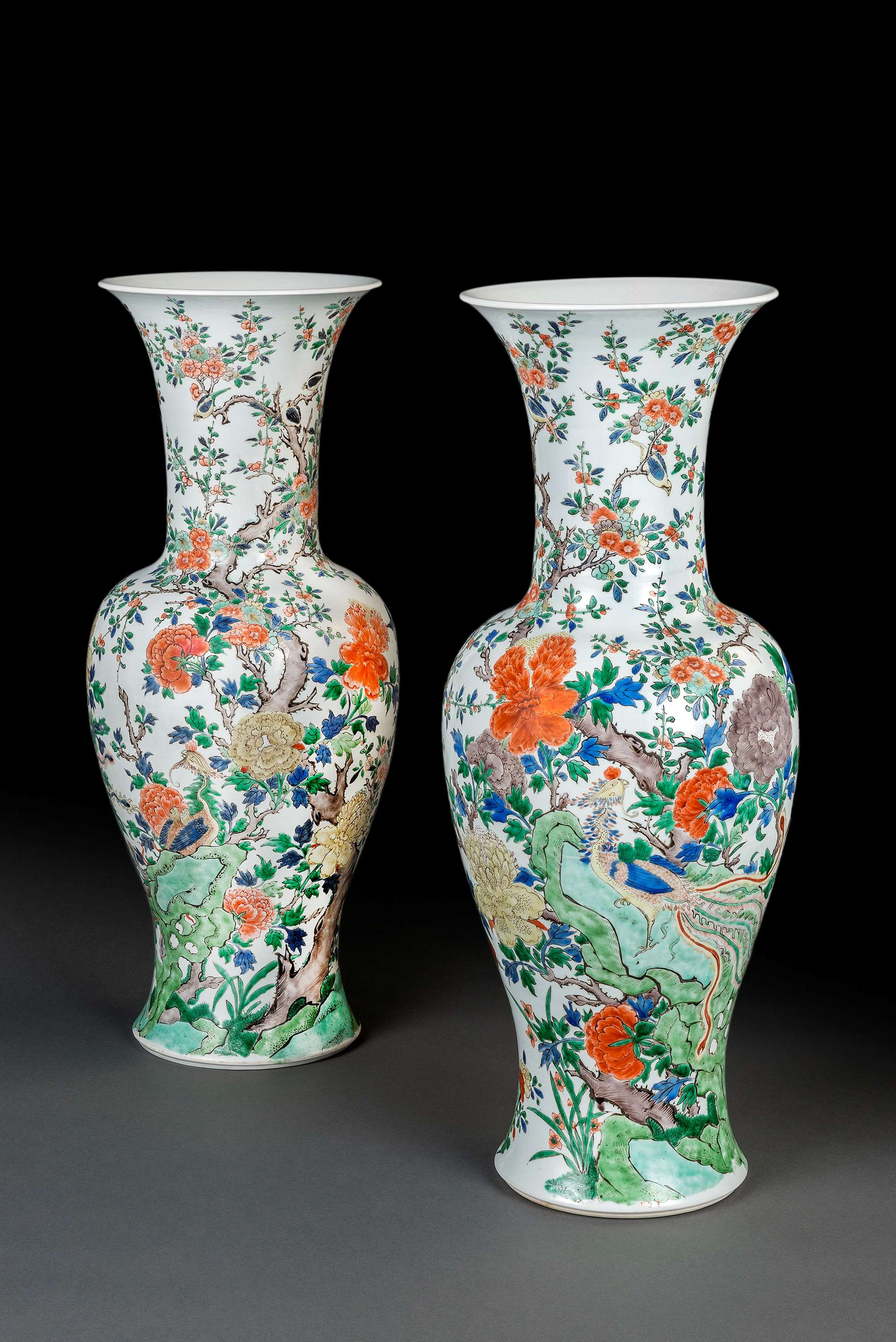 Kangxi period alainruong two famille verte phoenix tail vases china kangxi period 1662 1722 luis alegria stand 167 tefaf 2015 antiques 13 22 march 2015 reviewsmspy