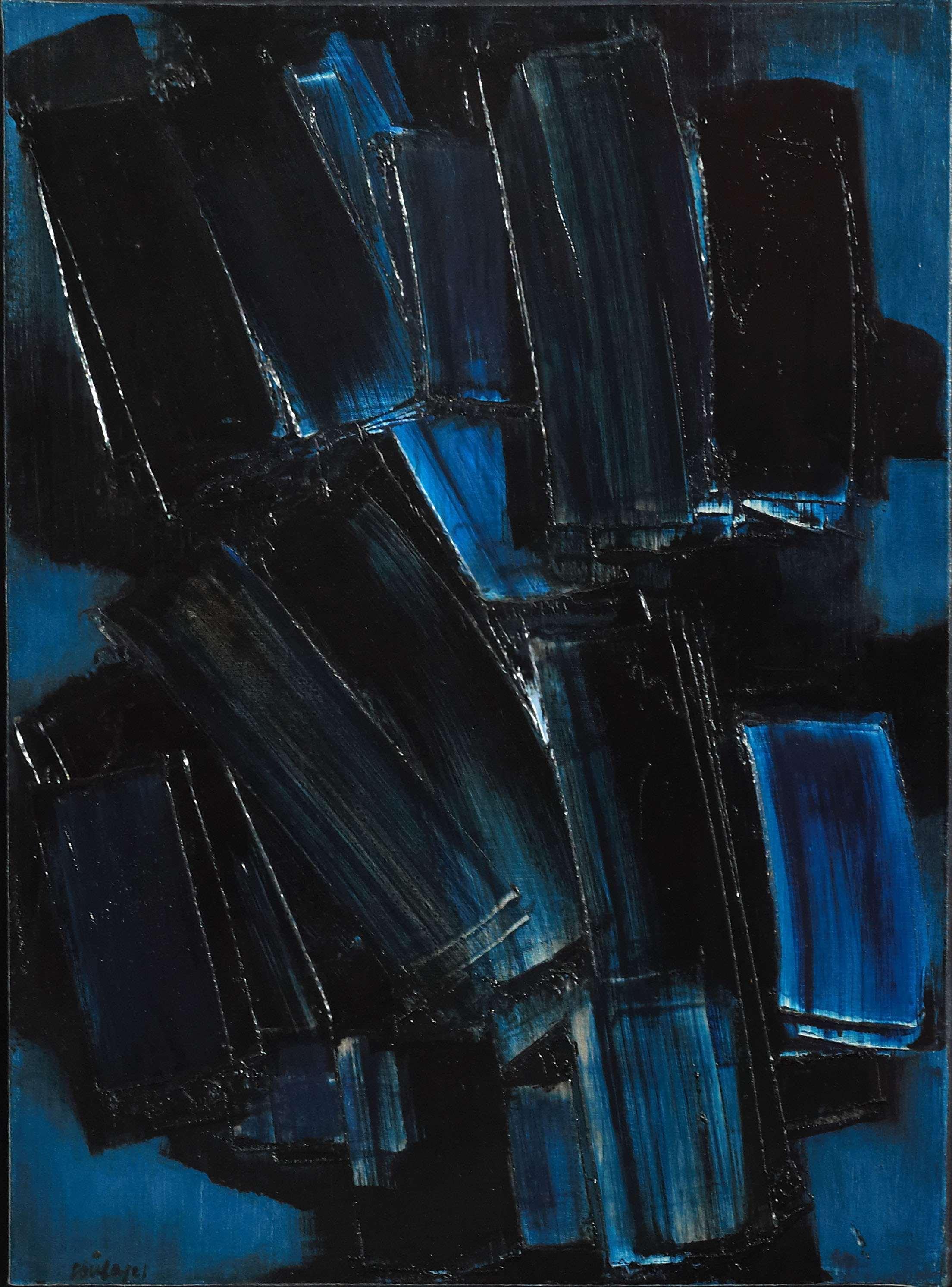 Pierre soulages alain r truong - Bleu vintage peinture ...