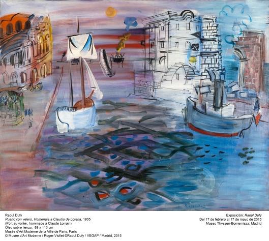 Port au voilier, hommage à Claude Lorrain