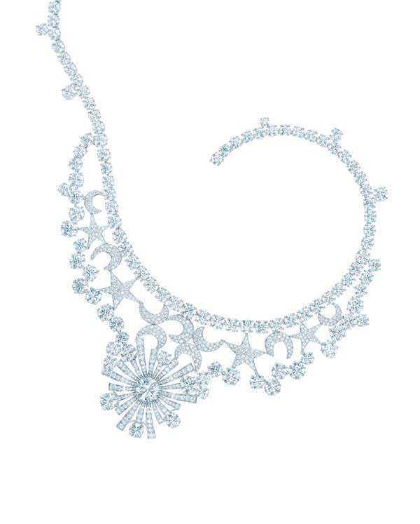 63079bf64 Jean Schlumberger designed the iconic Stars and Moons necklace for Tiffany  & Co in the 1950s. The necklace was recreated in celebration of Tiffany's  175th ...
