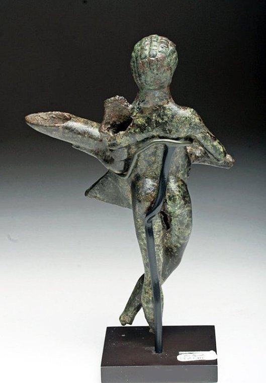Bronze Figural Oil Lamp Rome 1st Century Bce Ce Alain