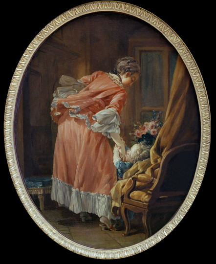 F.Boucher, The Spoilt Child / Paint.